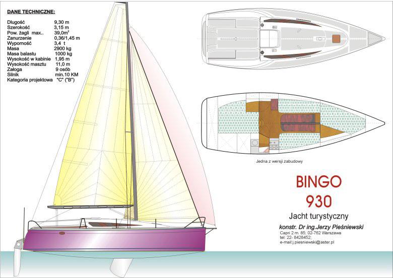 Jacht Bingo 930