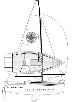 Czarter jachtu Bolero 805 na Mazurach